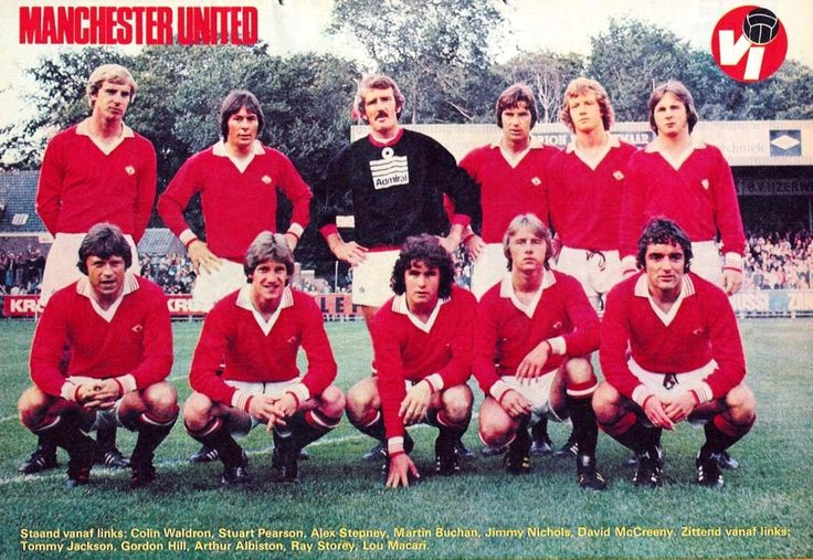 Manchester United, 1977. Shirt available from camporetro.com.