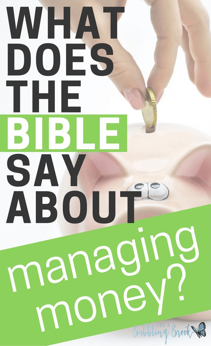 """Have you ever wondered, """"What does the bible say about money management?"""" Well, it says a lot! Here are a few key points and verses you can use for study."""