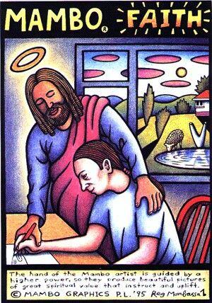 Mambo Faith (artist: Reg Mombassa)