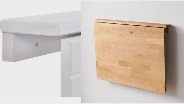 Como fazer você mesmo: Como fazer uma mesa auxiliar dobrável fixada na parede
