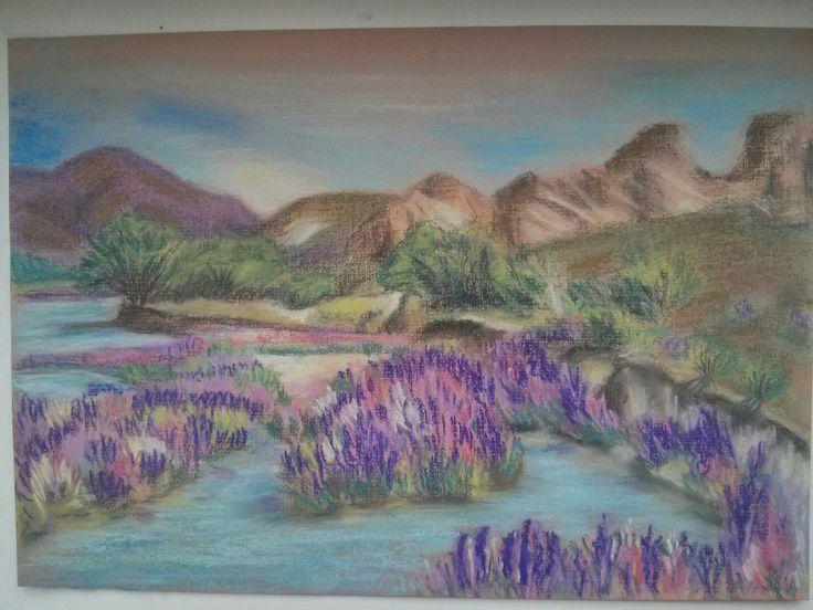 Landscape pastel A4