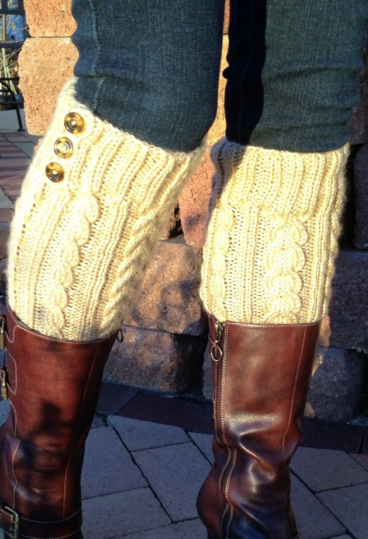 Luxury Cabled Knit Boot Topper - Leg Warmers