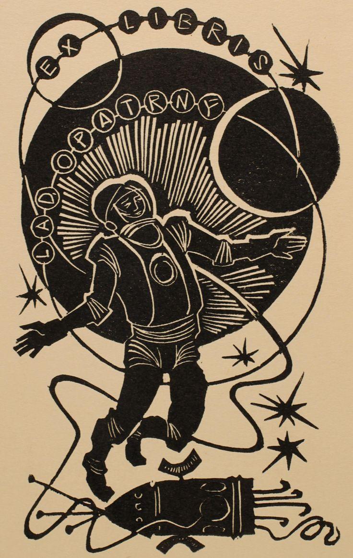Lad. Opatrny bookplate (or ex libris), by Ladislav Rusek (1971).
