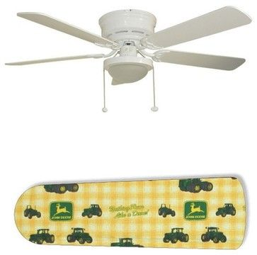 """Classic John Deere 52"""" Ceiling Fan with Lamp - eclectic - ceiling fans - New Image Concepts"""