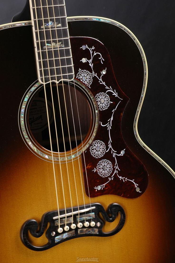 gibson acoustic | Gibson Acoustic J-200 Custom (Vintage Sunburst) | Sweetwater.com