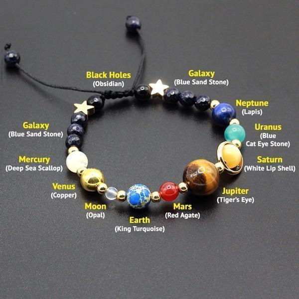 Fashion Jewelry solar  Bracelet Gift Idea Natural Stones gold plated solar Bracelet