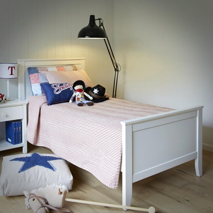 Yeehaw! Our Town & Country bed with a cowboy flavour.  #kidsbedroom #kidsbed #cowboy #parenthood #parenthoodstore #whitefurniture