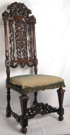 Chair Late 1600s By The French Huguenot Emigre Designer Daniel Marot @  Sudbury Hall Derbyshire