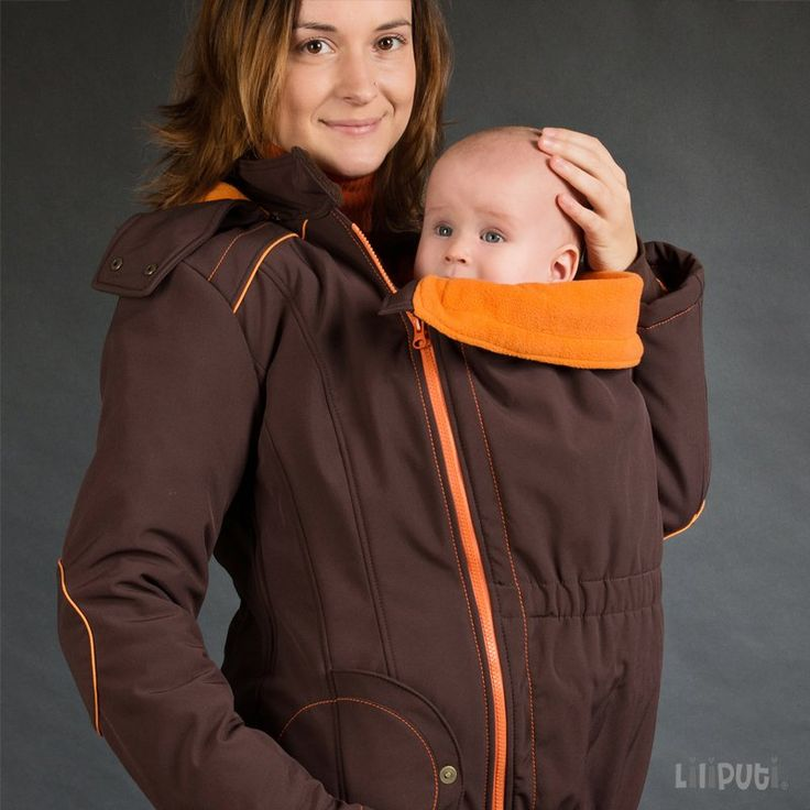 this would be so awesome for this winter! Liliputi® Babywearing Mama Coat Brown-orange