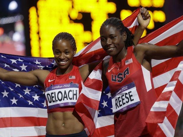 Dona da melhor marca da temporada, a americana Brittney Reese confirmou o favoritismo e venceu, nesta terça-feira, o salto em distância dos Jogos Olímpicos de Londres, com a marca de 7,12 m, em disputa realizada no Estádio Olímpico  Foto: AP