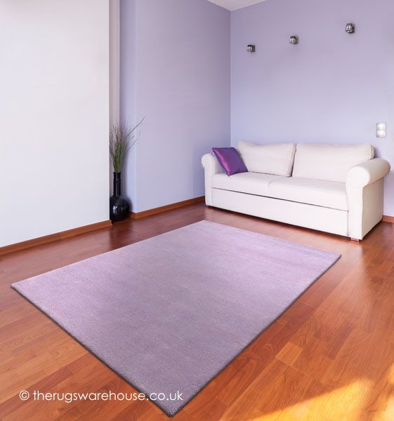 Home Comfort Lilac Rug A Thick 100 Wool Hand Tufted In