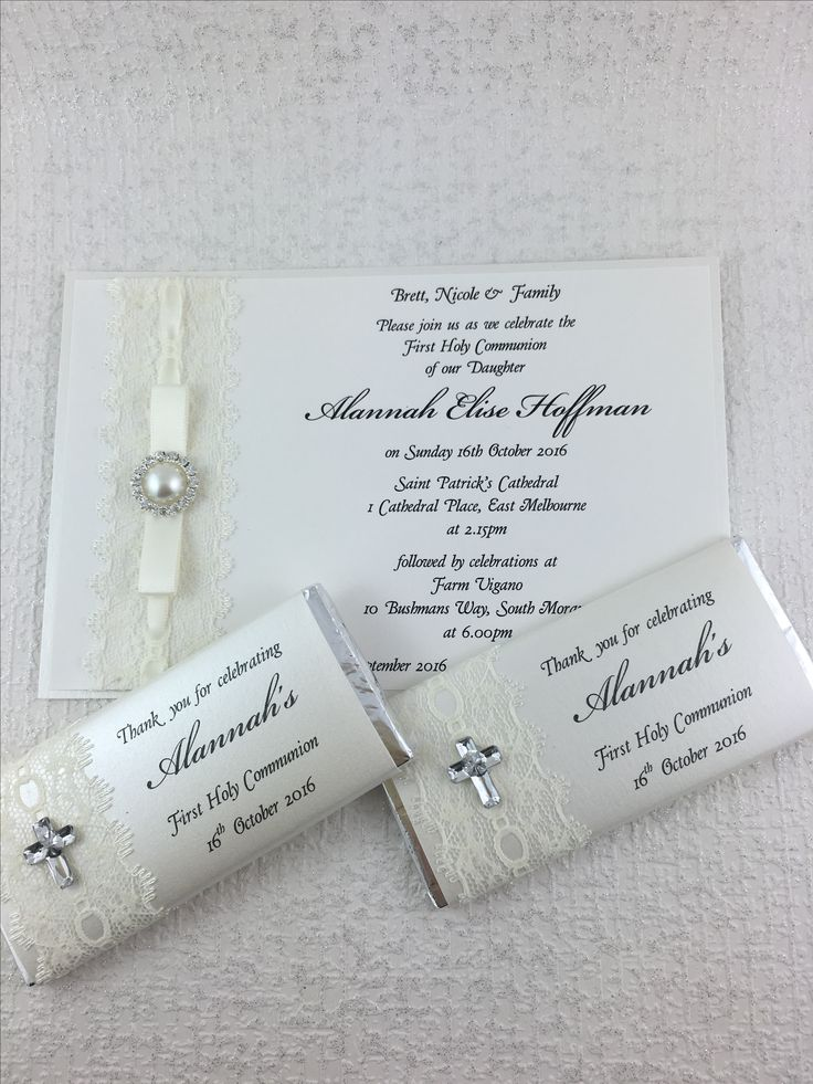 Lindt Chocolate Chocolate Bars Baptism Invitations Invitation