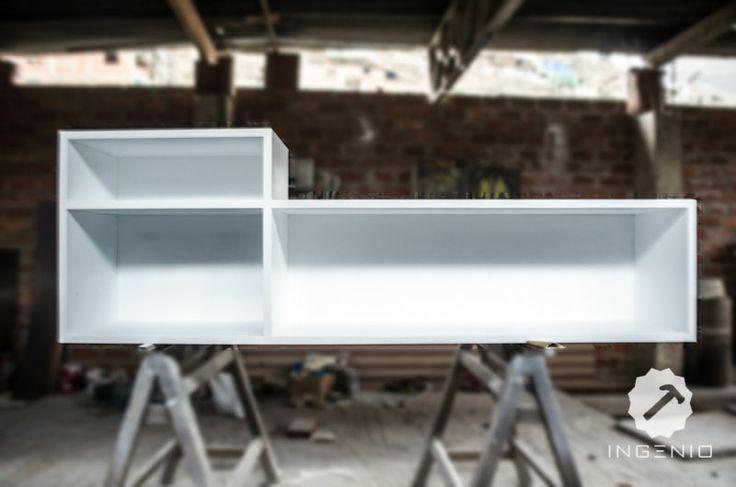 Mueble consola para equipo de sonido y vinilos este - Mueble para vinilos ...