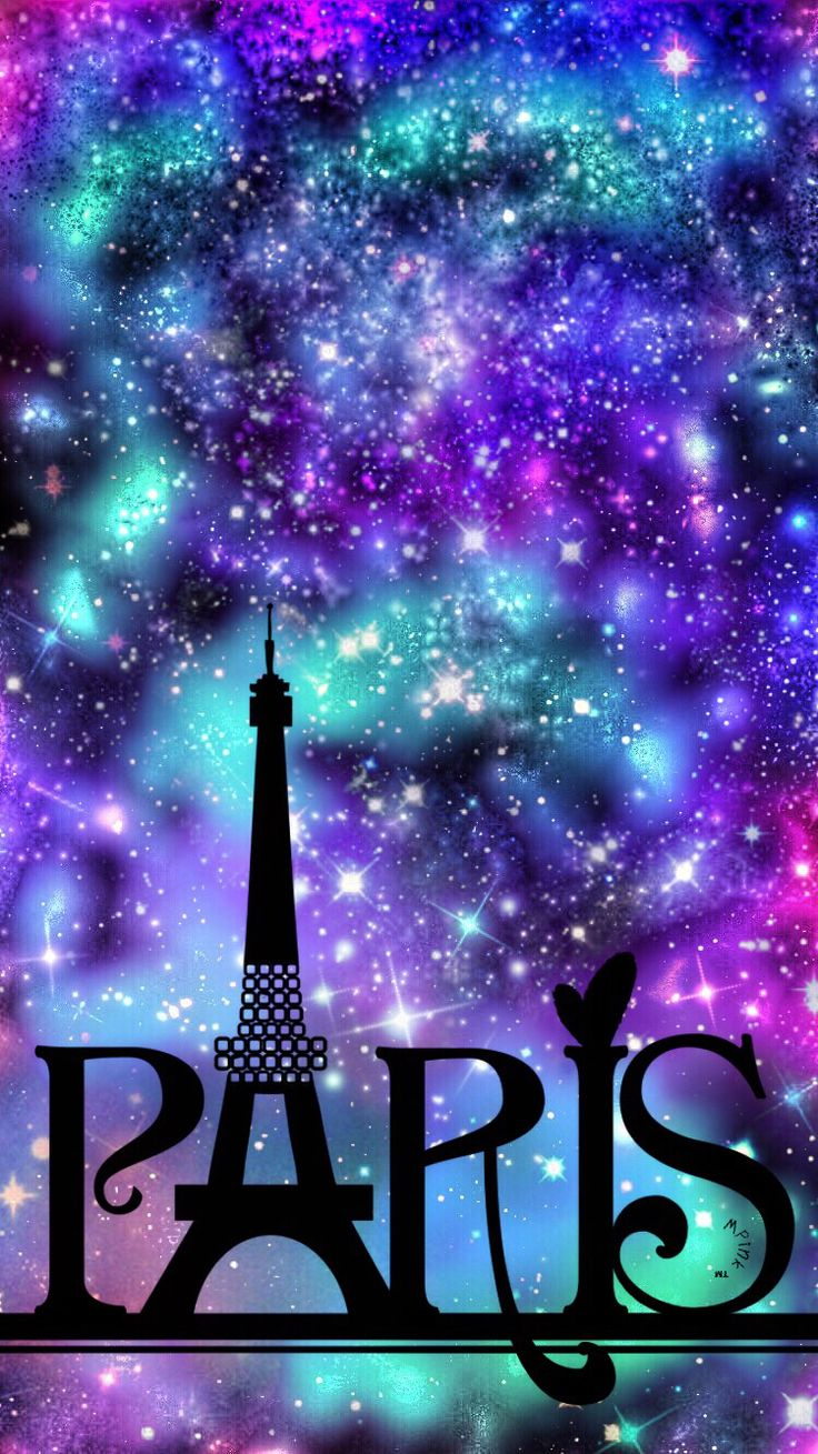 Paris Night Sky Galaxy Wallpaper