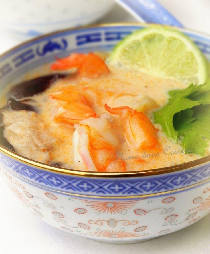soupe thaïe  au lait de coco !