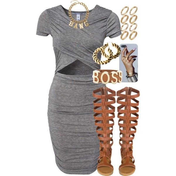 A fashion look from August 2014 featuring NLY Trend dresses, BCBGMAXAZRIA bracelets and H&M earrings. Browse and shop related looks.
