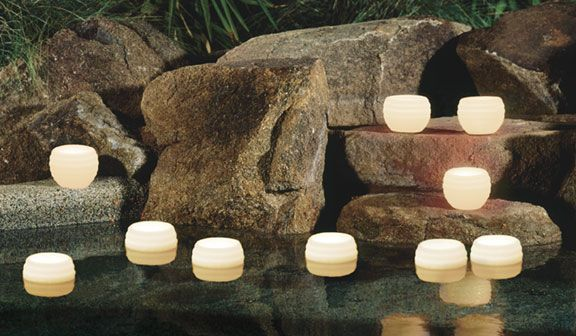 pool decorations for a wedding | Luminary Candles, Floating Lantern Candles for swimming pools ...