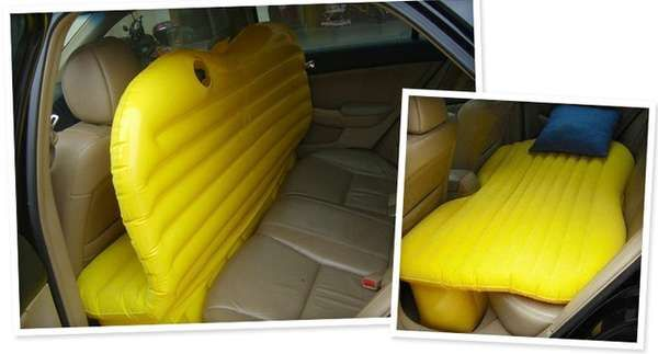 The Inflatable Car Bed Makes Trips More Comfortable #design