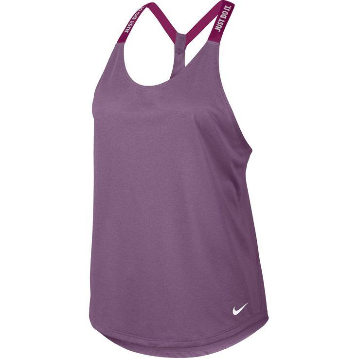 Violetti Nike Nk Dry Tank Elastika Wmn Orchid/Sport Fuchsia - Naisten topit - xxl.fi