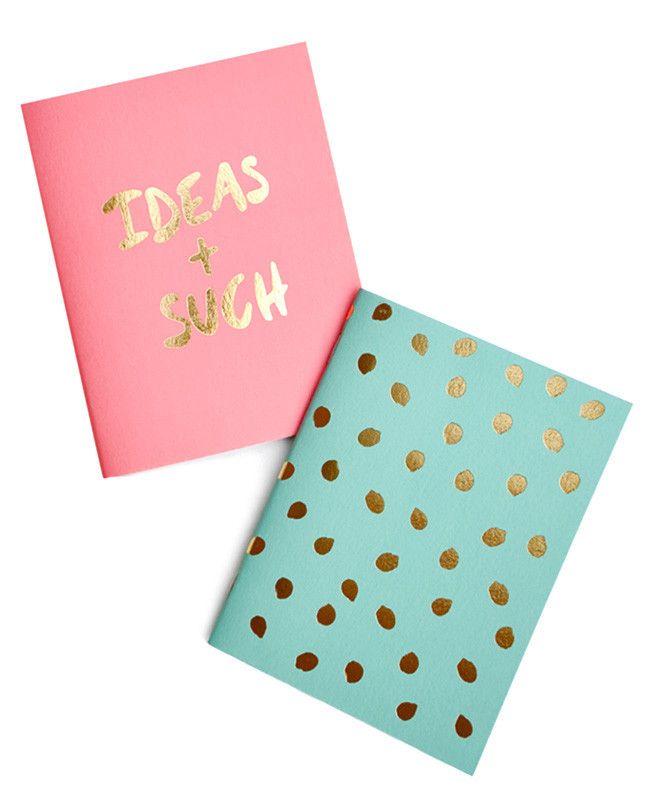 Gold Foil Pocket Notebook Set on LEIF