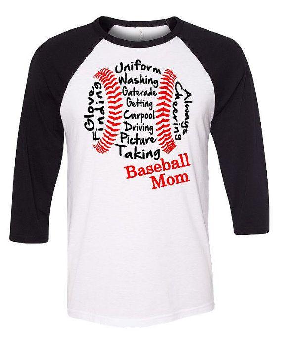 Béisbol mamá 3/4 longitud béisbol por GraphicsUnlimitedLLC en Etsy