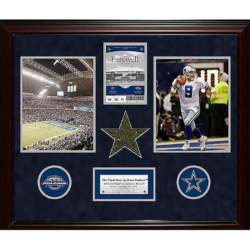 "Steiner Sports Dallas Cowboys Final Game Commemorative Ticket Collage - 20"" x 24"""