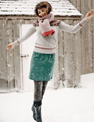 Cambridge Skirt WG552 A-line & Full at Boden