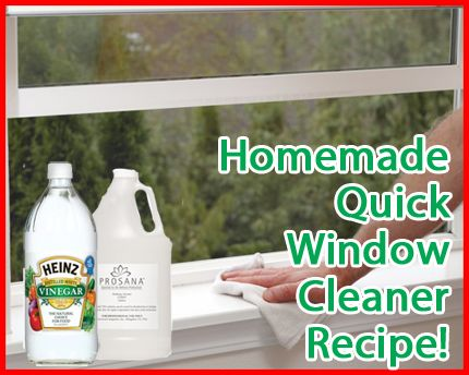 How To Make Homemade Natural Window Cleaner The cornstarch is what makes this work better - go figure!