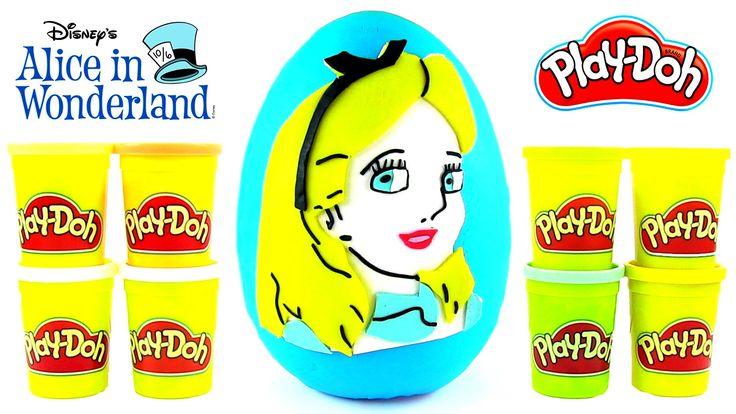 Alice Harikalar Diyarında Oyun Hamuru DEV Sürpriz Yumurta Açma Frozen Wi...