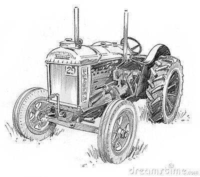 old tractor sketch - Google Search