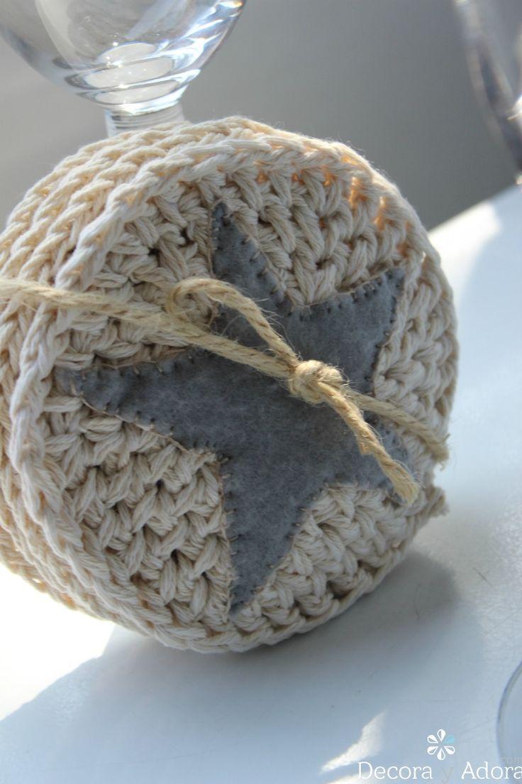 Las 25 mejores ideas sobre patr n de posavasos de crochet - Posavasos de ganchillo ...