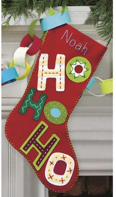 Dimensions Catching Snowflakes Christmas Stocking - Felt Applique Kit - 123Stitch.com