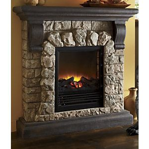 Electric Faux Stone Fireplace I Want To Live In A Pottery Barn Cata
