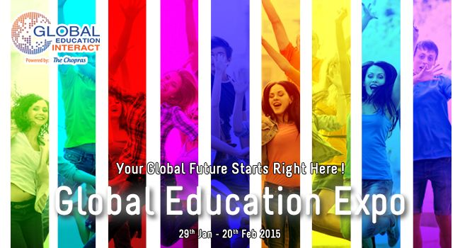 Global Education Fair 2015! Come, Discuss, Decide Your Future Goals with Delegates of 60 Universities from 9 Countries. Know More: www.thechopras.com/geicampaign UG/PG Admissions & Assessments for 2015 Intakes Highlights: -On Spot Counseling -Scholarship and fee waiver opportunities - Advice on Visa Application and the Availability of education loans Register Now: www.thechopras.com/geicampaign   #globaleducationfair #educationfair #GEI2015 #thechopras