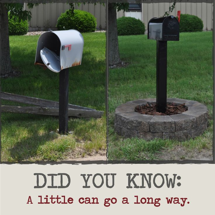 Check out this before and after where we took a little money and a little  effort and made a big impact on a landscape  Created with Lexington Mini  Stones. 8 best images about Mailbox landscaping on Pinterest   Mailbox