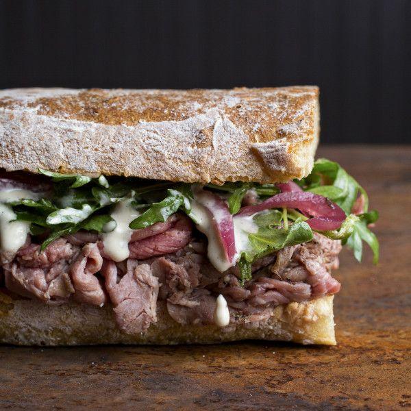 Roast Beef Sandwich. Recipe from Chef Craig Deihl of Artisan Meat Share, Charleston, SC. Photo by Andrew Cebulka.