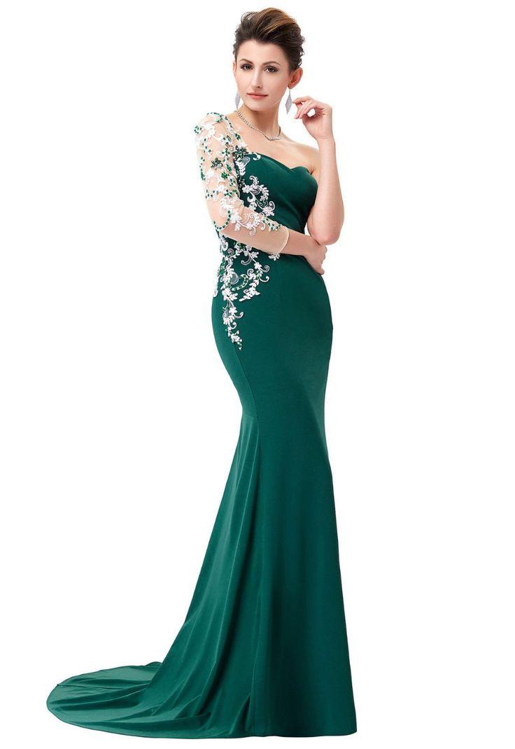 Rochie lunga eleganta cu un umar R63