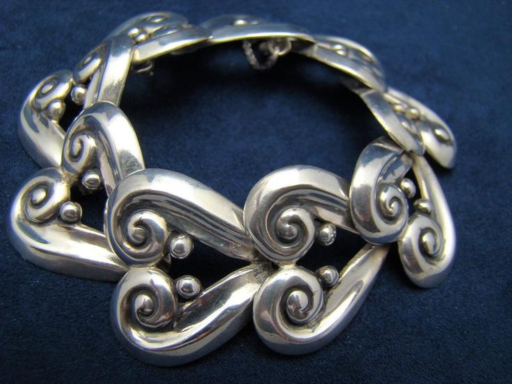 Bracelet | Margot de Taxco.  Sterling silver. ca. 1950s, Taxco