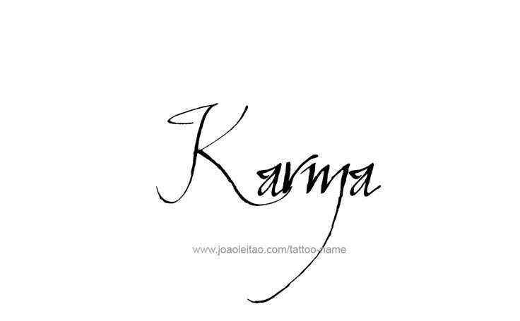 Tattoo Design Name Karma