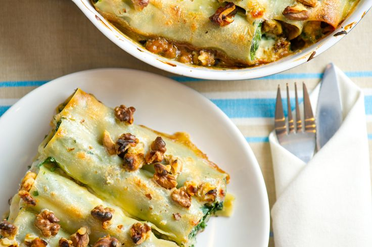 Spinach, Mushroom & Ricotta Cannelloni