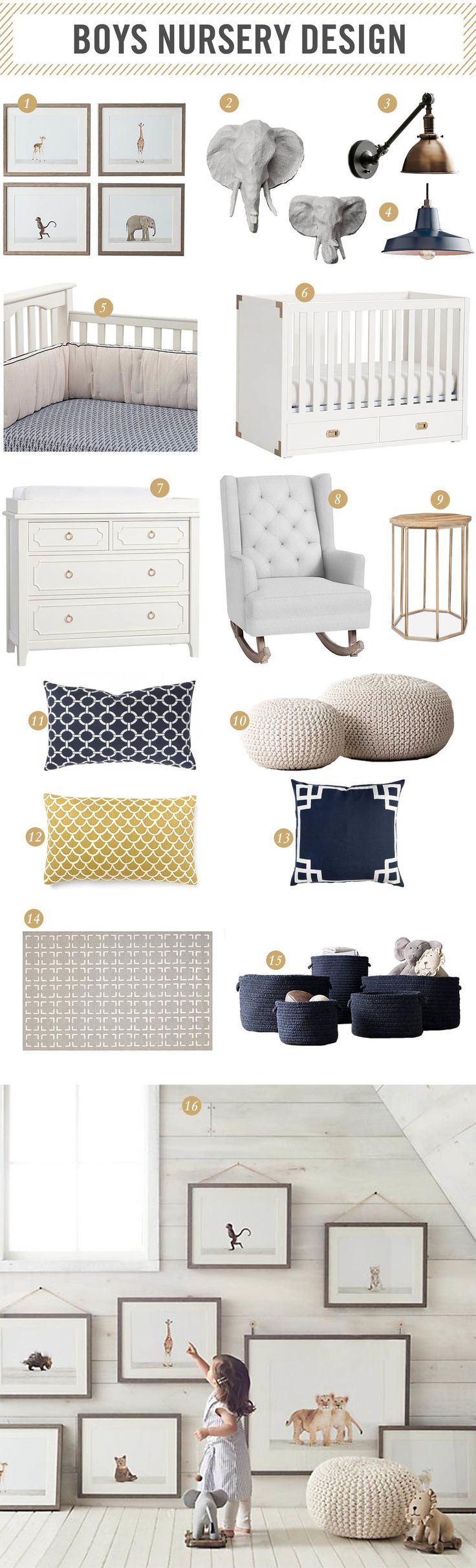 | Baby Boy Nursery Design Inspiration | westcoastcapri.com