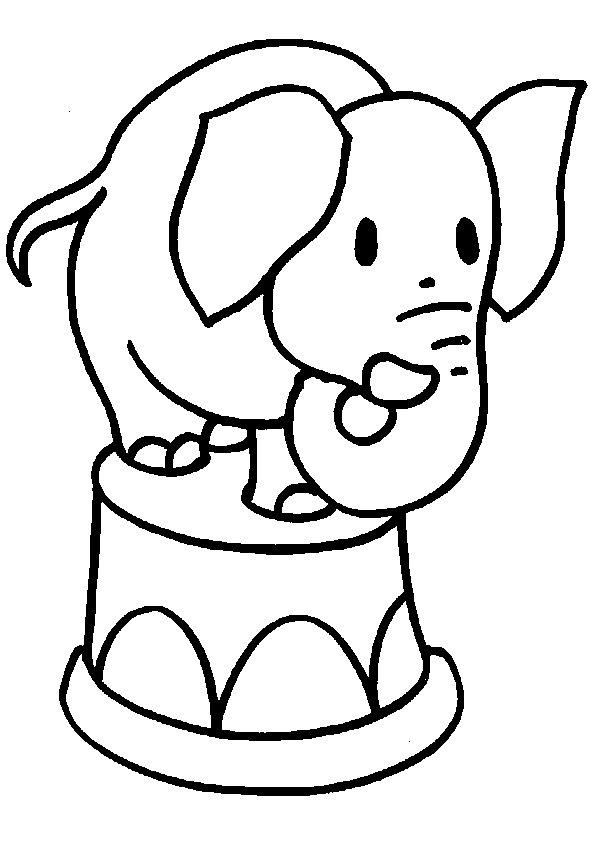 Circus Elephant Colouring Pages