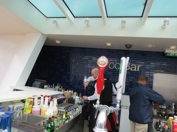 Celebrity Cruises - Aboard Celebrity Eclipse - Bar tenders at the Pool Bar