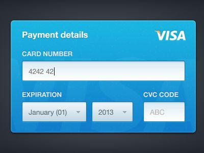 visa creditcard 20 Brilliant Examples of Skeuomorphic UI Design