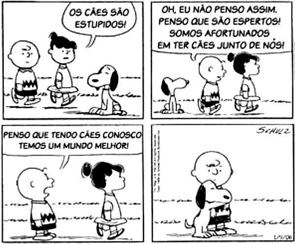 + Tirinha :     Snoopy por Charles Schulz  Boa noite :)