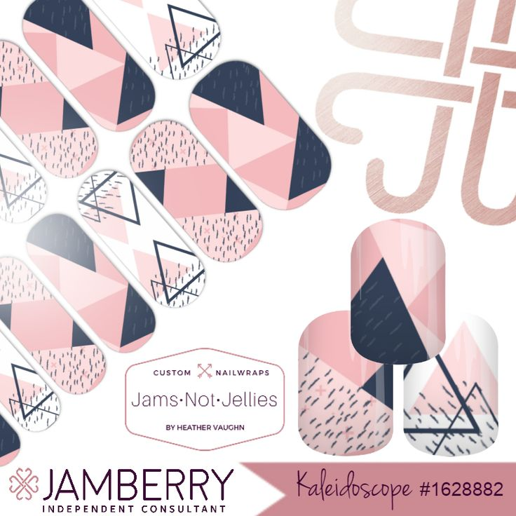 Kaleidoscope • Jamberry NAS Custom Nail Art Studio design • A bit of whimsy for when life gets a little too monotonous.