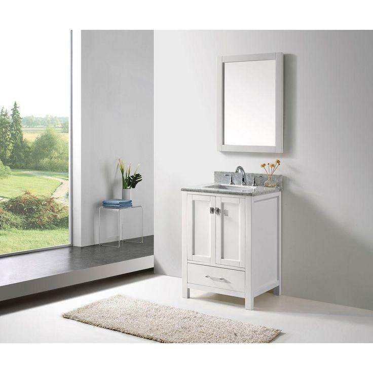 Caroline Avenue 24 inch Contemporary Bathroom Vanity. 17 Best ideas about 24 Inch Bathroom Vanity on Pinterest   Sinks