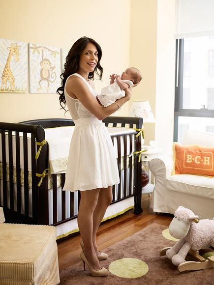 Real Housewive's star #BethennyFrankel decorated her baby's #nursery with neutral yellow because they kept the gender a surprise!