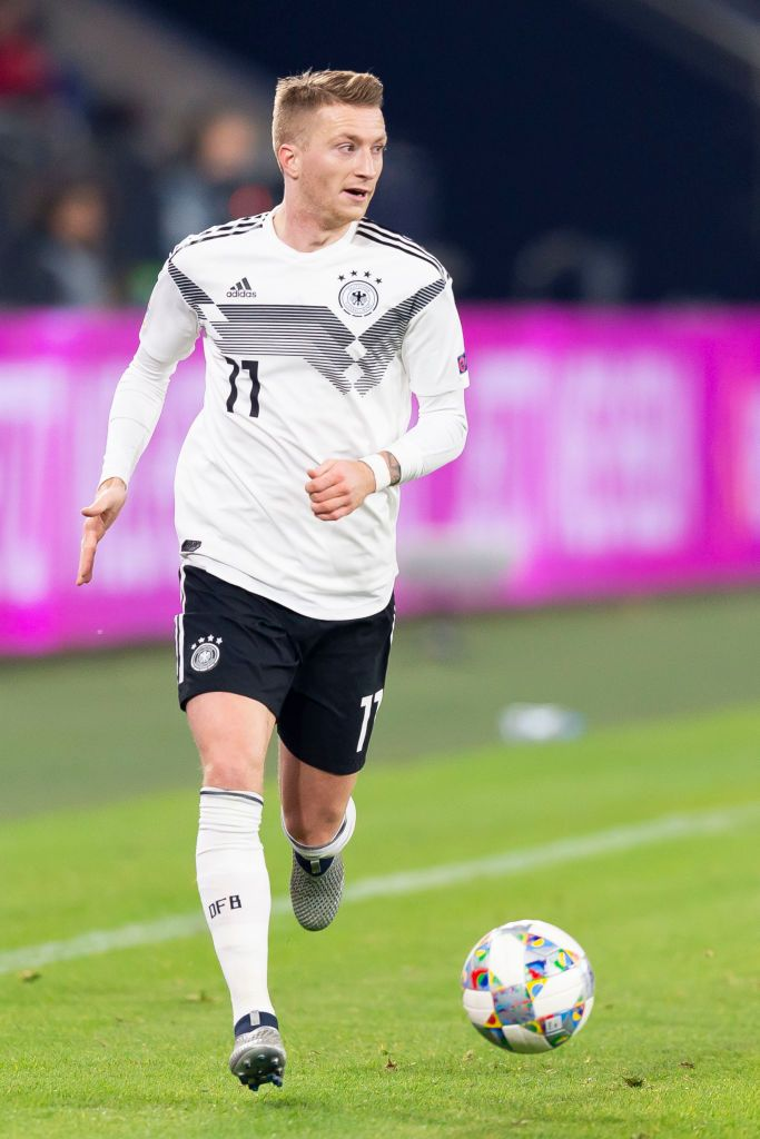Gelsenkirchen Germany November 19 Marco Reus Of Germany Controls The Ball During The Uefa Nations League A Group One Reus Marco Reus Best Football Players