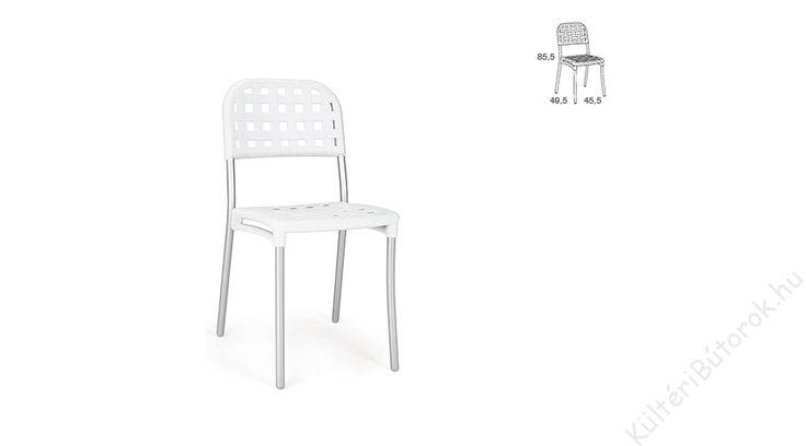 Kint is van bent is van, Fém kerettel együtt van. Mi az? :D 💟 Természetesen egy kültéren is használható fémvázas szék! 💋  Alaska kültéri szék - több színben  - Kerti szék alumínium vázzal - Háttámla és ülés bőr hatású polipropilénből - Csúszásgátlóval ellátott lábak - Tartós, időjárásálló és stílusos - Hatféle színben kapható - Rakásolható - Könnyen tisztítható